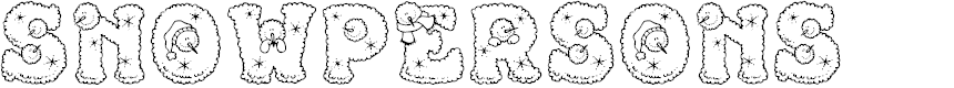 Preview image for Snowpersons Font