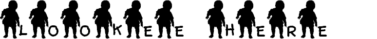 Preview image for JLR Lookee Here! Font