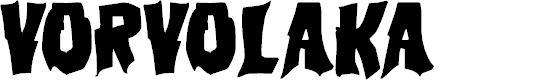 Preview image for Vorvolaka Regular Font