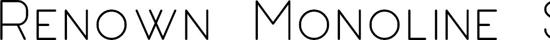 Preview image for Renown Monoline Sans Demo