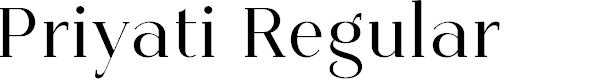 Preview image for Priyati Regular Font