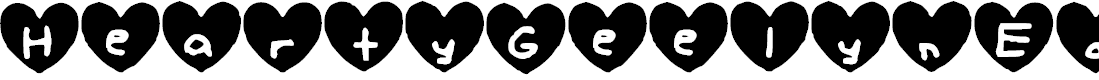 Preview image for Hearty_Geelyn_Edits_Airbrush Font