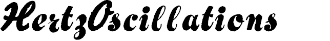 Preview image for HertzOscillations Font