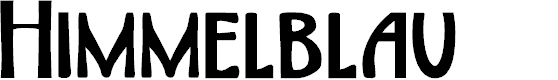 Preview image for DKHimmelblau Font
