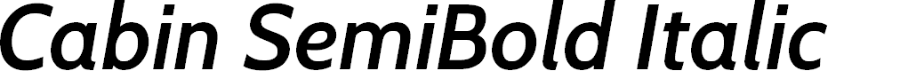 Preview image for Cabin SemiBold Italic