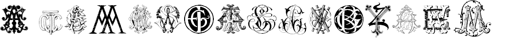Preview image for Intellecta Monograms Random Samples Two Font