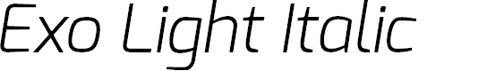 Preview image for Exo Light Italic