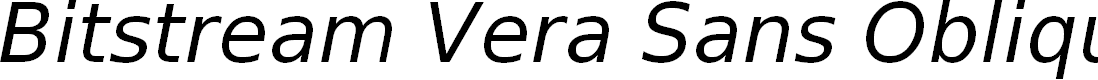 Preview image for Bitstream Vera Sans Oblique
