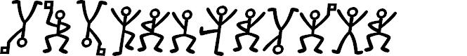 Preview image for GL-DancingMen Font