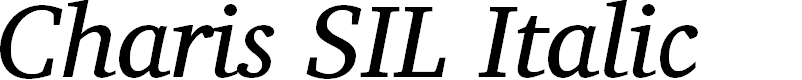 Preview image for Charis SIL Italic