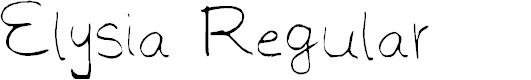 Preview image for Elysia Regular Font