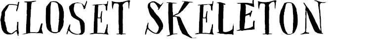 Preview image for DKClosetSkeleton Font