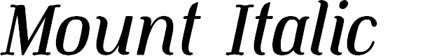 Preview image for Mount Italic PERSONAL USE ONLY