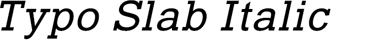 Preview image for Typo Slab Italic