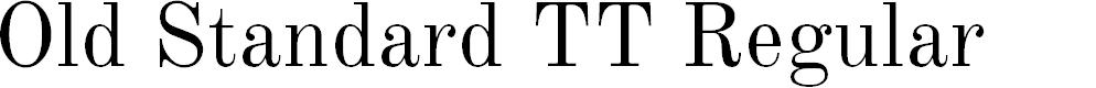 Preview image for Old Standard TT Regular