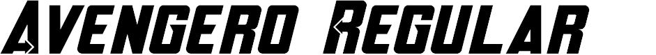Preview image for Avengero Regular Font