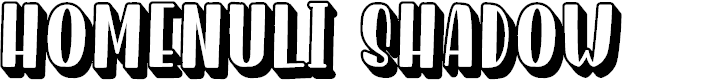 Preview image for Homenuli Shadow Font