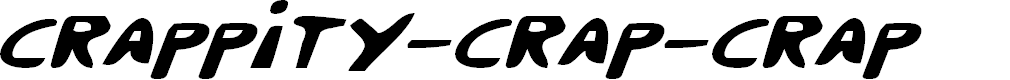 Preview image for Crappity-Crap-Crap Italic