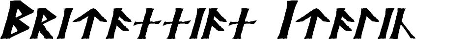 Preview image for Britannian Italic