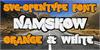 NamskowWhite Font poster