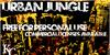 Urban Jungle Font text poster
