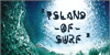 Surfing  of waves Font water wave