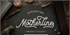 Motherline DEMO Font handwriting sign