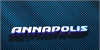 Annapolis Font screenshot electric blue