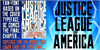 JUSTICE LEAGUE Font poster cartoon