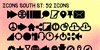 Icons South St Font text book
