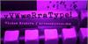 Vera Type Font indoor violet