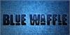 Blue Waffle Font font electric blue