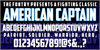 American Captain Font text screenshot