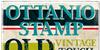 Ottanio Stamp DEMO Font poster book