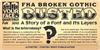 Broken Poster Font poster text