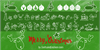 Merry Christmas Font design cartoon