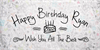DHF Happy Birthday Ryan Font text handwriting