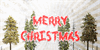 Metal Christmas Personal USE Font tree outdoor