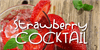 Strawberry Cocktail Font soft drink food