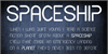 CF Spaceship Font text screenshot