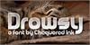 Drowsy Font cat indoor