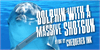 Dolphin with a Massive Shotgun Font poster