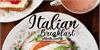 Italian Breakfast Font plate food