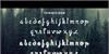 Twopath Font screenshot text