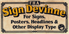 FHA Sign DeVinneNC Font poster typography