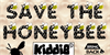 SAVE THE HONEYBEE Font cartoon screenshot