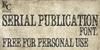 Serial Publication Font text book