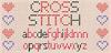 CROSS STITCH Font pattern vector graphics