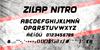 Zilap Nitro Font poster text
