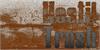 Hostil Trash Font handwriting brown